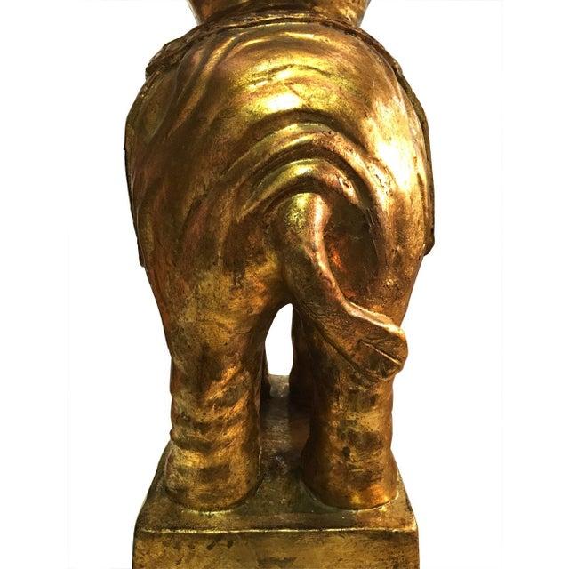 Italian Gilded Ceramic Elephant Lamps - Pair - Image 8 of 8