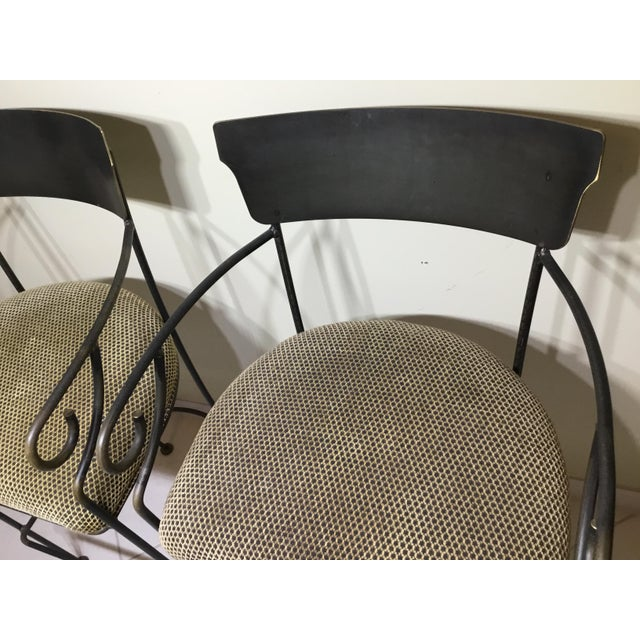 Wrought Iron Bar Stools - A Pair - Image 7 of 11