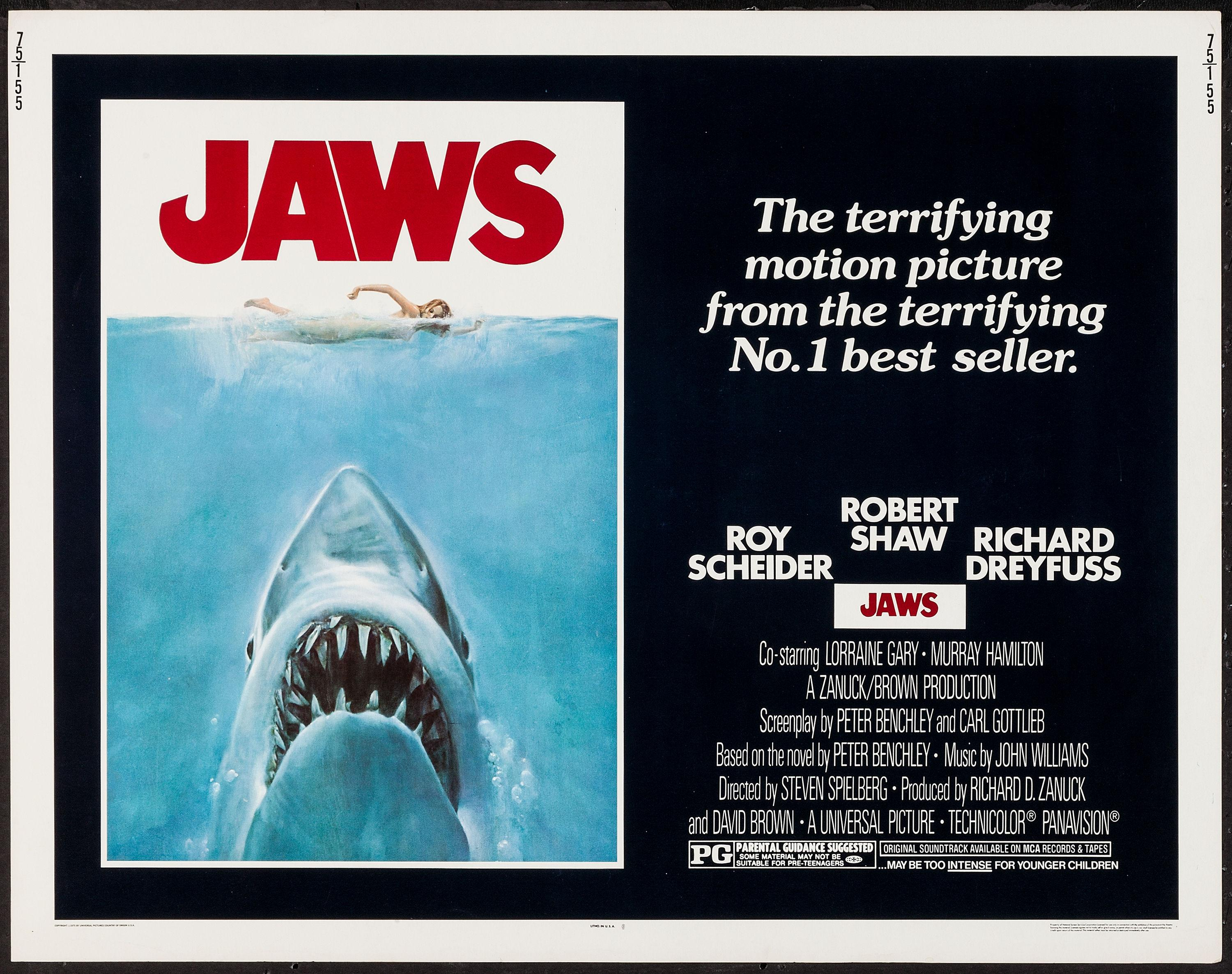 Image result for jaws 1975 movie poster