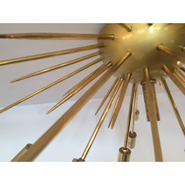 Mid-Century Modern Brass Flush Mount Sputnik by Stilnovo For Sale - Image 3 of 5