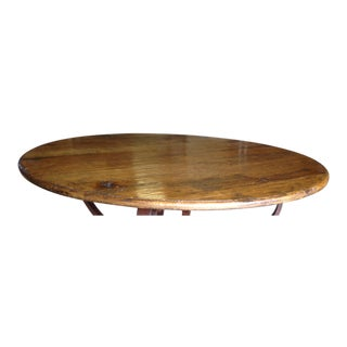 English Oak Table Top For Sale