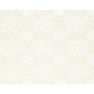 Hinson for the House of Scalamandre Fireworks Wallpaper in White on Off-white For Sale