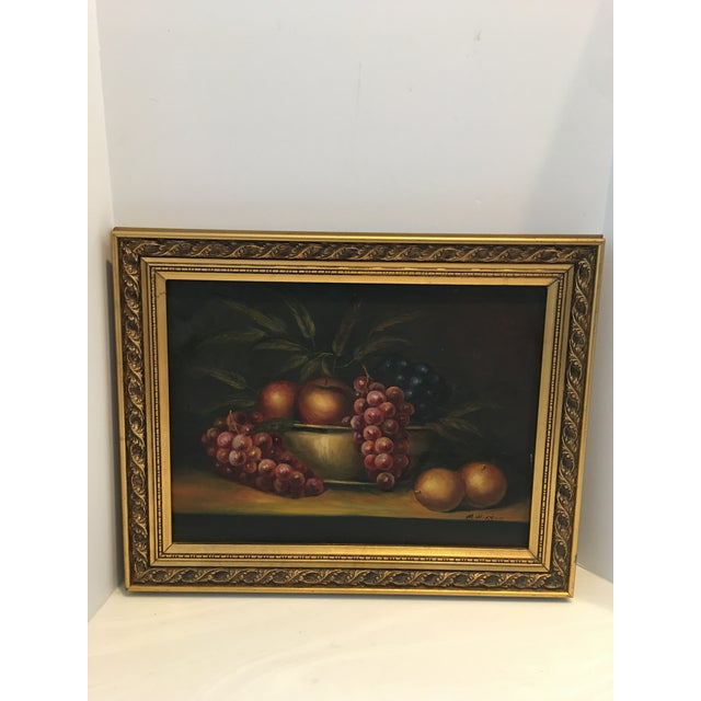 Canvas 1960s Vintage M . Morgan Still Life Oil on Canvas Painting For Sale - Image 7 of 7
