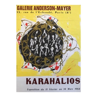 Original 1964 French Exhibition Poster, Galerie Anderson-Mayer For Sale