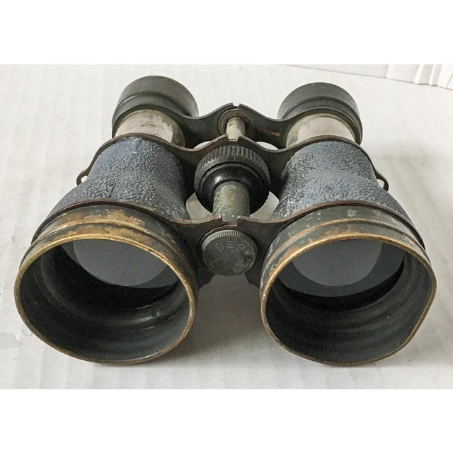 French Antique Metal Opera Glasses Magnifying Binoculars For Sale - Image 3 of 8