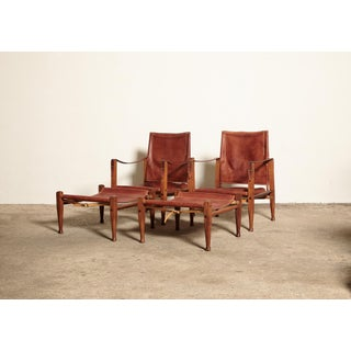 1950s Scandinavian Modern Kaare Klint Safari Chairs and Footstools - 4 Pieces Preview
