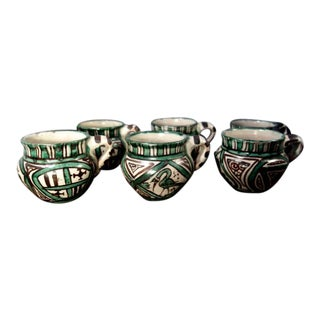 Mid 20th Century Domingo Punter Cups, Spain - Set of 6 For Sale