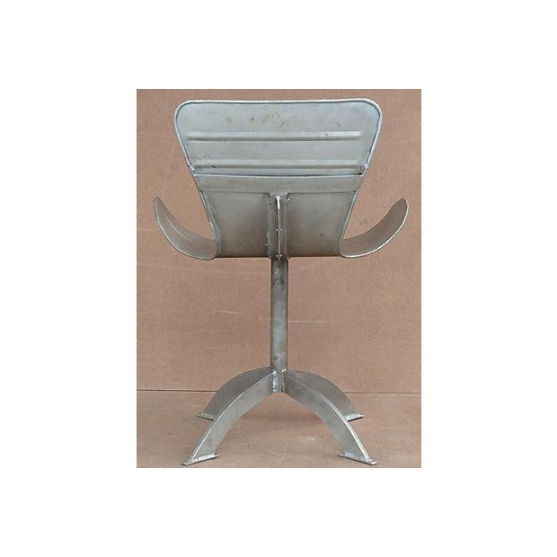 Artist-Sculpted Industrial Aluminum Chair - Image 5 of 9
