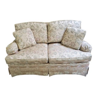 Traditional Henredon Gold Floral Loveseat For Sale