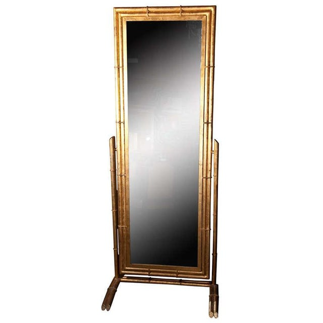 Gilt Metal Cheval Mirror - Image 1 of 6