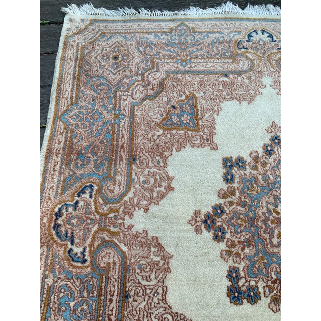 """1970s Vintage Ivory Persian Tabriz Rug - 5' x 5'5"""" For Sale In San Francisco - Image 6 of 13"""