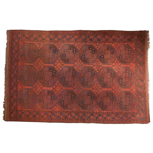"Vintage Ersari Carpet - 7'6"" X 11'4"" For Sale - Image 12 of 12"