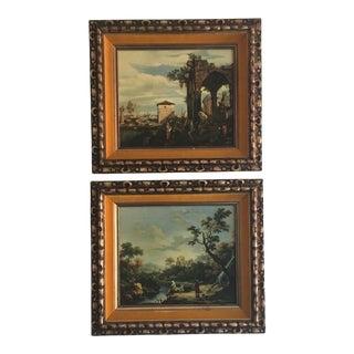 Framed Roman Landscape Prints - A Pair