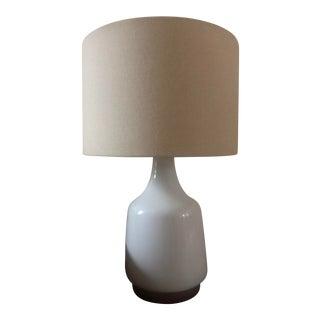 West Elm Morten White Table Lamp For Sale