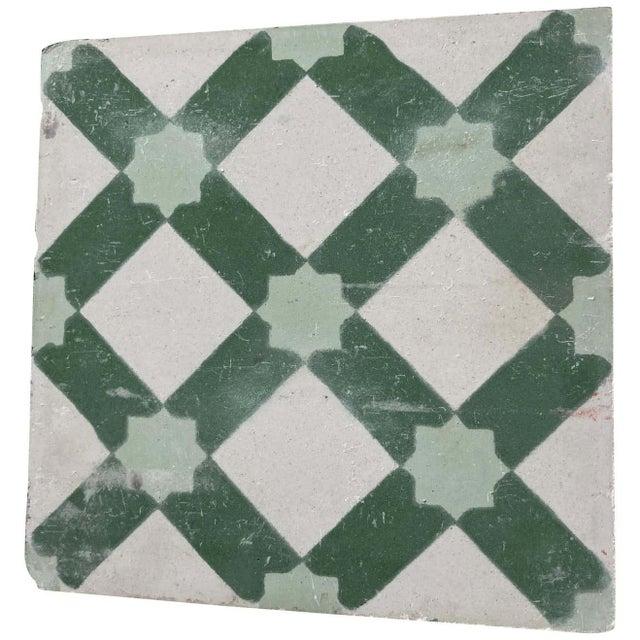 Concrete Moroccan Encaustic Cement Tile Sample with Moorish Design For Sale - Image 7 of 7