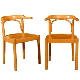 Midcentury Beechwood Armchairs, Hans Wegner - Pair For Sale