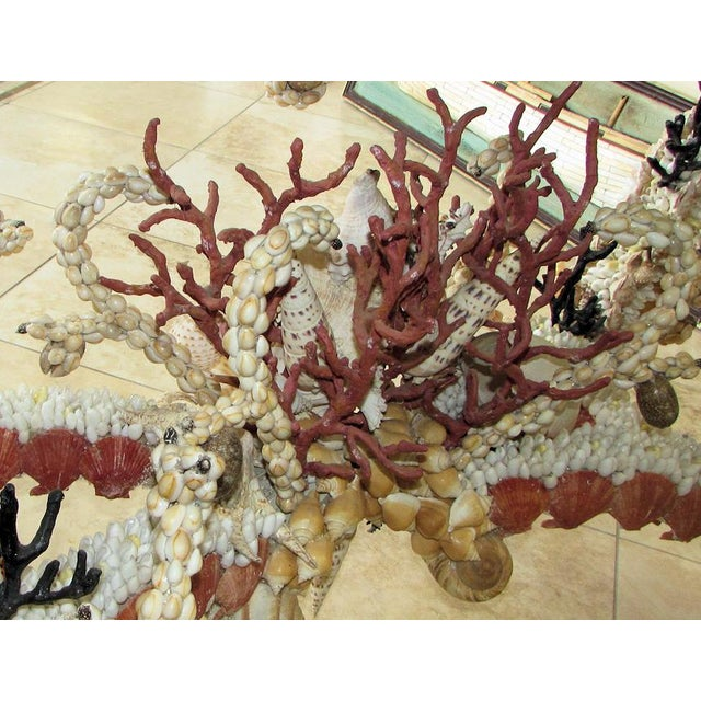 Orange French Louis XV Seashell Encrusted Console Table For Sale - Image 8 of 12