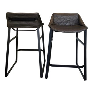 Modern Klaas Kitchen Stools- a Pair For Sale