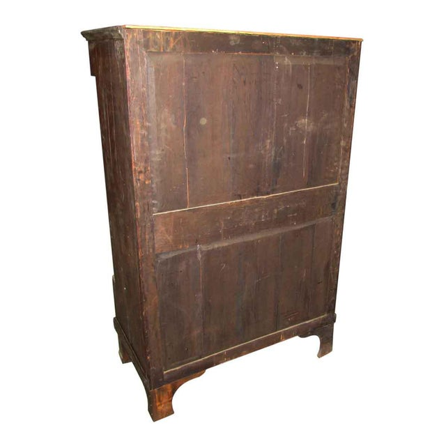 Tall Inlaid Dresser With Bronze Reliefs For Sale - Image 10 of 10