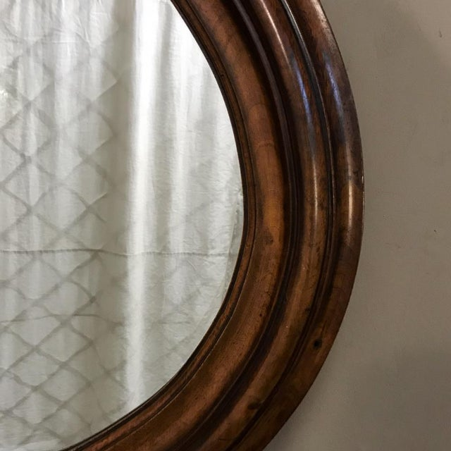 19th Century French Louis XVI Walnut Oval Mirror For Sale - Image 10 of 13