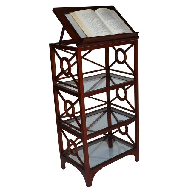 Vintage Library Stand For Sale