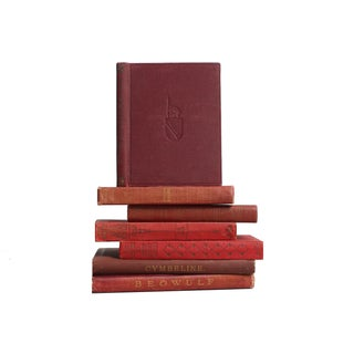 Burgundy Pocket-Sized Classics Book Set - Set of 7 For Sale