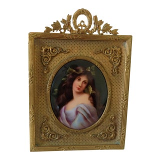 Antique 19th Century French Miniature Portrait Painting