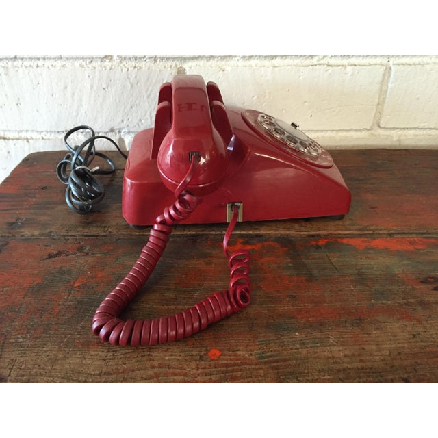 Vintage Red Rotary Telephone - Image 5 of 11