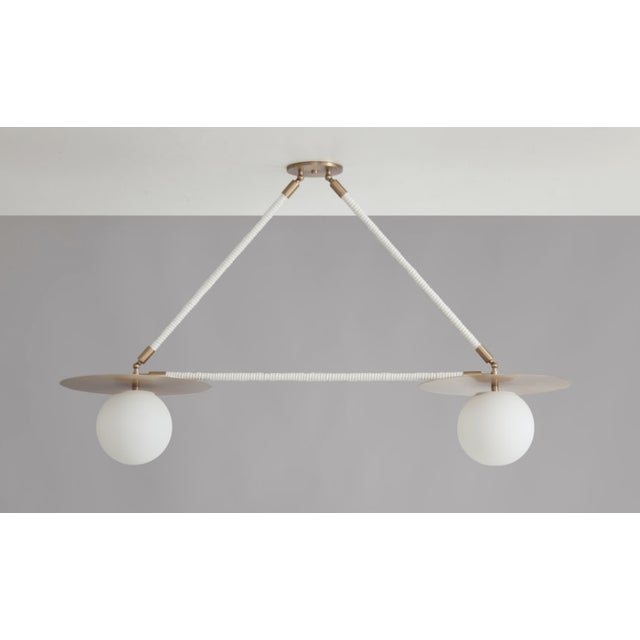 Featured in The 2020 San Francisco Decorator Showcase — Contemporary Double Pendant Light For Sale - Image 4 of 4