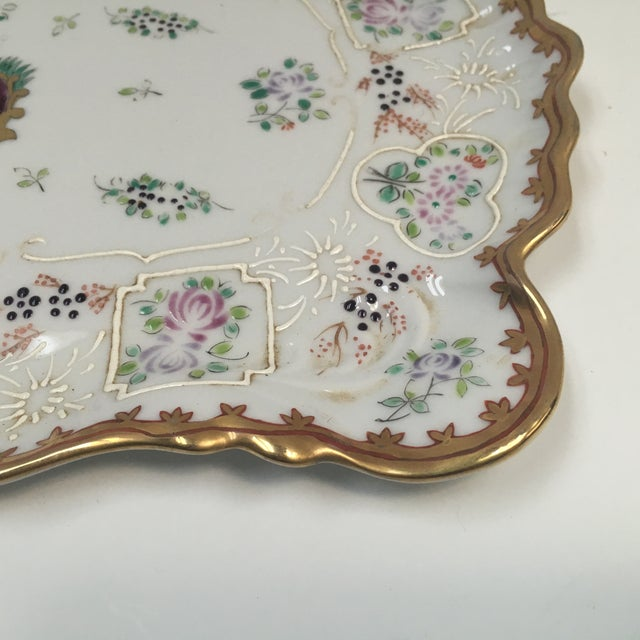 Hand Painted Embossed Ornate Dresser Tray - Image 4 of 8
