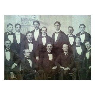 """Vintage Photo Portrait """"Gathering of Gentlemen"""" Framed Preview"""