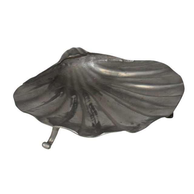 Pewter Shell Shaped Bowl For Sale