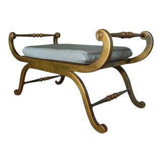 20th Century Regency Style Upholstered Window Bench For Sale