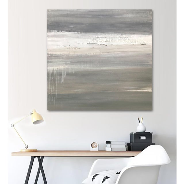 Gray Fracture' Original Abstract Painting by Linnea Heide For Sale - Image 8 of 9