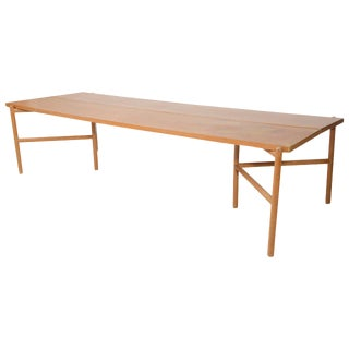 Large and Rare Danish Modern Metamorphic Console Table, Ejner Larsen For Sale