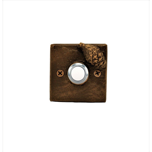 Square Lodgepole Cone Doorbell For Sale - Image 4 of 4