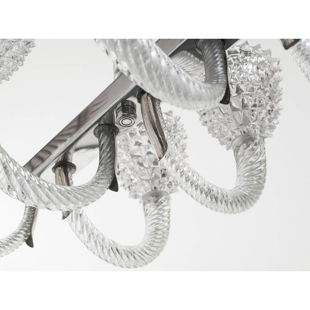 Murano Glass Chandelier by Ercole Barovier For Sale In New York - Image 6 of 11