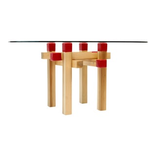 Modern Artless Matchstick Table For Sale
