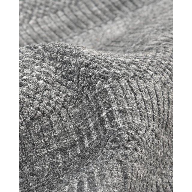 Sanam, Contemporary Solid Hand Loomed Area Rug, Dark Gray, 5 X 8 For Sale - Image 4 of 9