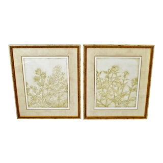 Vintage Framed Limited Edition Signed Floral Lithographs - a Pair For Sale