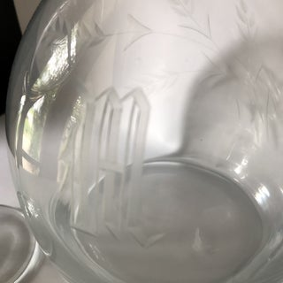 """M"" Monogram Glass Decanter and Stemmed Cups - 6 Pieces Preview"