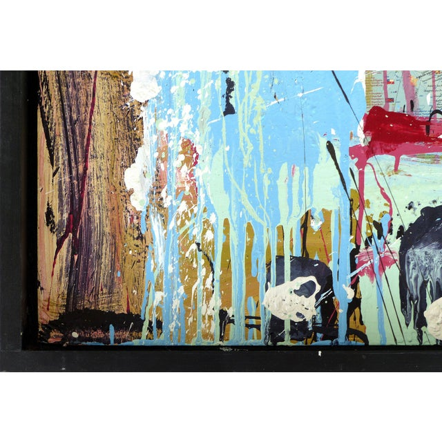 """William P. Montgomery Abstract Mixed Media Painting """"Swamp Talk 1/2"""", 2015 For Sale - Image 12 of 13"""