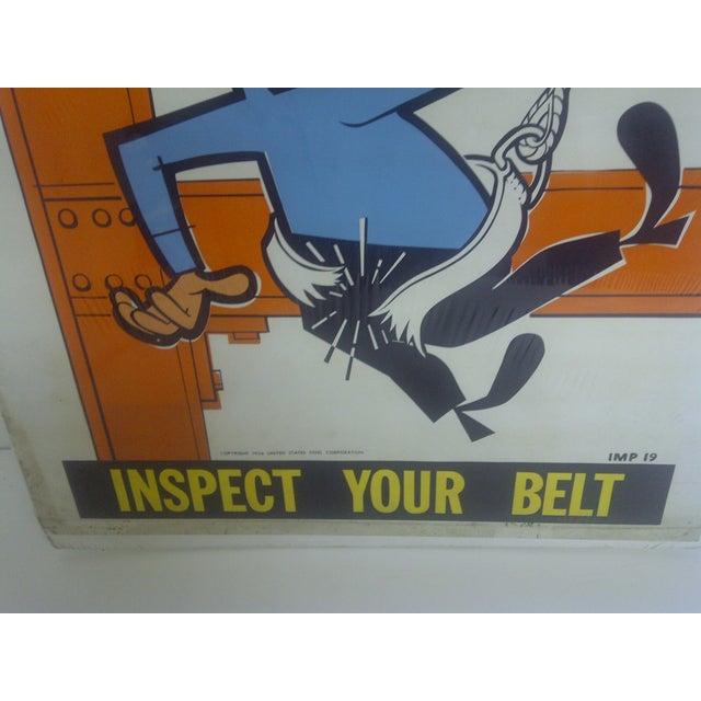 1956 Vintage US Steel Safety Poster - Image 4 of 9