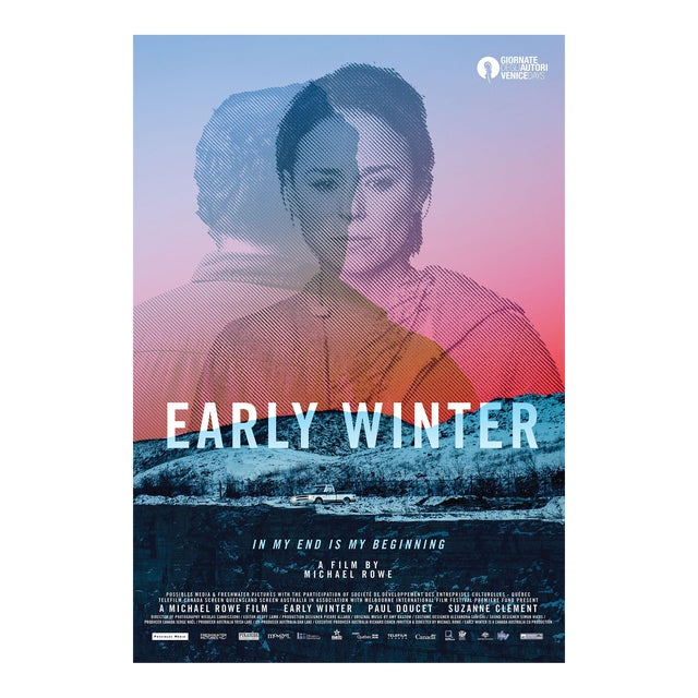 2015 Contemporary Movie Poster - Early Winter by Michael Rowe (On Beige-Coloured Paper) For Sale