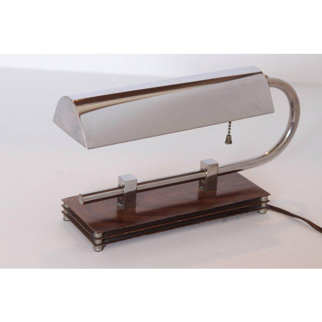 1930s Machine Age Art Deco Adjustable Desk Lamp in Manner of Gilbert Rohde For Sale - Image 5 of 11