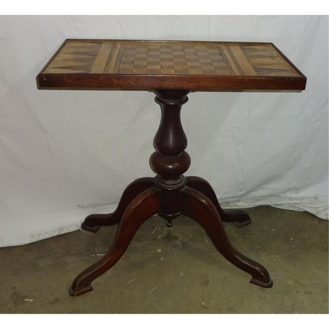 19th-C. Parquet Game Table - Image 3 of 4