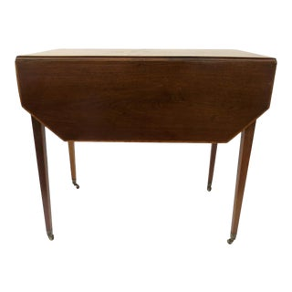 English Mahogany Pembroke Table with Canted Corners For Sale