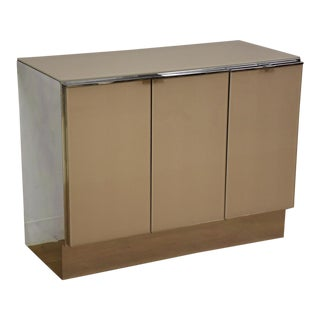 Modern Ello Chrome Chest Credenza For Sale