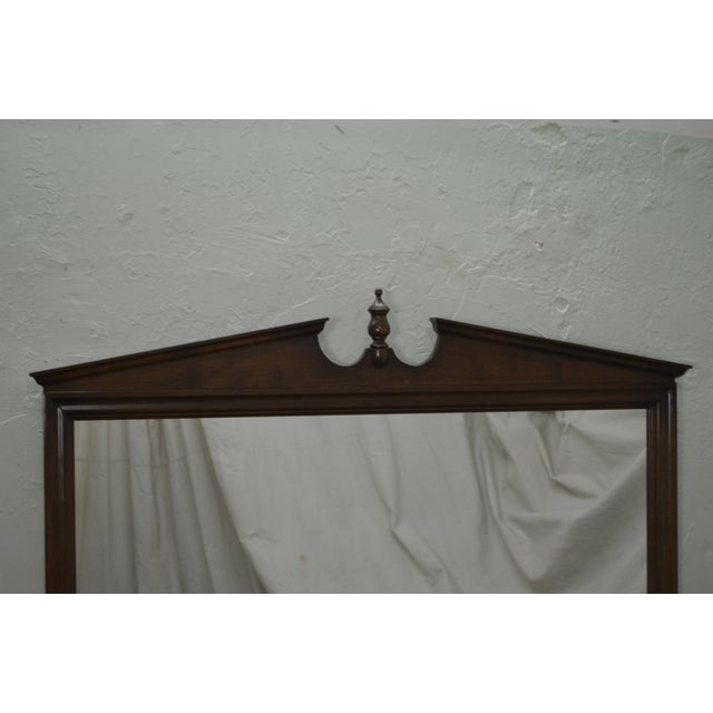 Ethan Allen Vintage Maple Hanging Wall Mirror For Sale In Philadelphia - Image 6 of 10