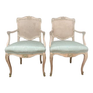 1920s French Louis XV Arm Chairs - A Pair For Sale